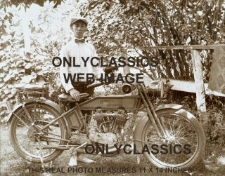Old Harley Davidson V Twin Motorcycle Photo Americana