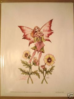 Amy Brown Signed Print Spring Fairy Festival 2006 Faery
