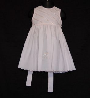 Carriage Boutique Baby Girl Pink Floral Ribbon Easter Dress Size 12M