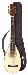 Amigo AMT10 Travel Portable Backpacker Acoustic Guitar with Gig Bag