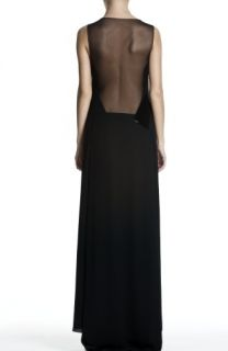 New Max Azria Black Woven Beaded Mesh Gown XXS $498
