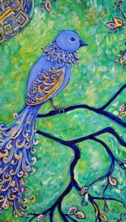 Dana Marie Art Original Whimsical Contempory Modern Bird Tree Painting