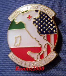 AIR BASE ITALY SAF/AFES military station American Red Cross pin