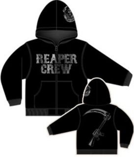 Sons of Anarchy Hoodie SAMCRO Reaper Crew Adult Zip Up Jacket s 2XL