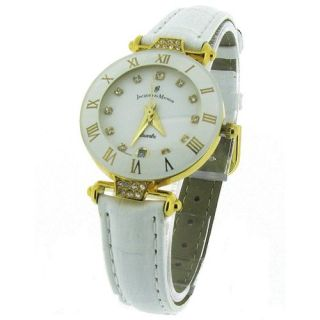 Swiss Made Ladies White Leather Strap Analogue Watch JDWRCP72