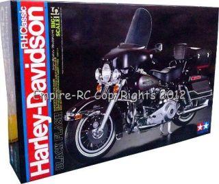 16007 Harley Davidson FLH Classic 1 6 Black Flash Model Kit