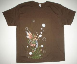 Amy Brown Bubble Sprite Short Sleeve Brown Tshirt Fairy Faery Fantasy