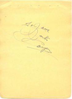 Jackie Cooper Vintage 1930s Original Signed Album Page Autographed
