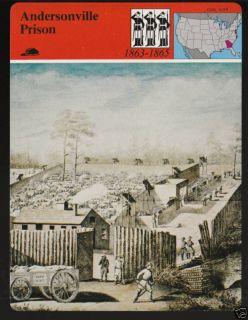 Andersonville Prison Confederate Civil War Picture Card