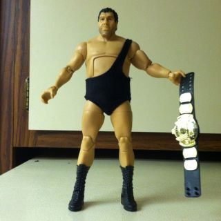 wwe Andre The Giant Elite loose mattel figure with title belt