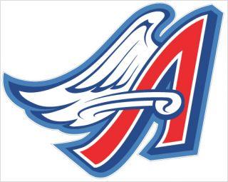Anaheim Angels 3 Team Logo 7 x5 75 Sticker Decal New