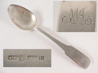 Georgian Scoish Provincial Silver easpoon Perh c1820 Maker DG