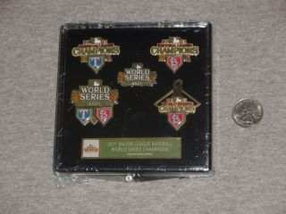 2011 World Series Champions 5 Pin Set Case Aminco FreeShip