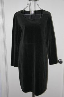 hanna andersson womens black velvet dress large
