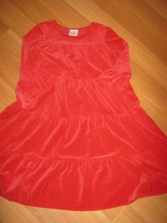 Hanna Andersson Girls Red Velour Holiday Dress Size 140 9 10 12 Years
