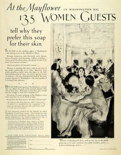 1926 Ad Andrew Jergens Soap Woodburys Mayflower Hotel   ORIGINAL