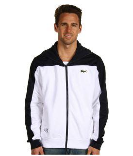 Full Zip Track Jacket Andy Roddick White Blue Shirt Top Retro