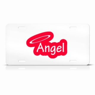 red angel novelty metal license plate wall sign tag give your vehicle