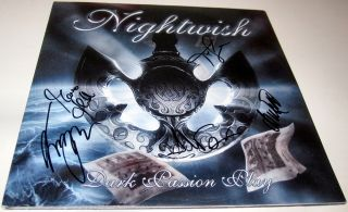 Dark Passion Play, VINYL LP Anette Olzon Tuomas Emppu Autograph SIGNED