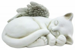 cast resin this awesomely cute winged cat angel statue looks great