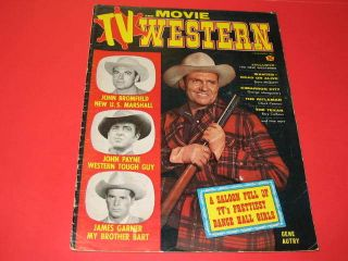 TV AND MOVIE WESTERN 4 Gene Autry James Garner 1959 magazine mag movie