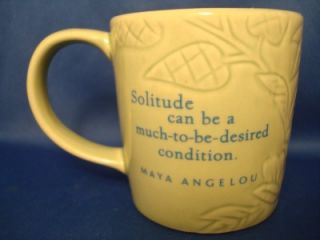 Maya Angelou Hallmark Ceramic Coffee Mug Cup Solitude