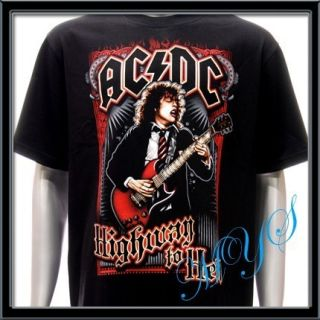 Sz L AC DC Angus Young T Shirt Rock N Roll Heavy Metal