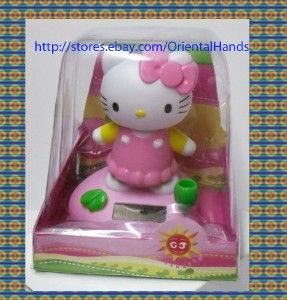 Large Hello Kitty Belly Dancing Solar Power Bobblehead