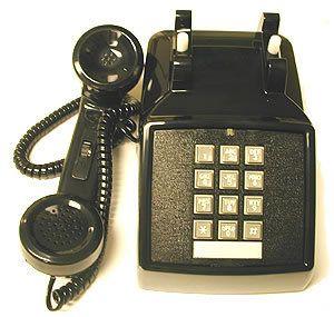 Phone Retro Black Push Button Desk Telephone Vintage