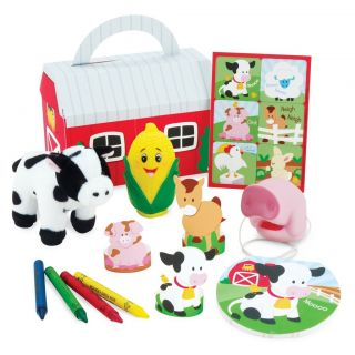 Barnyard Farm Animals Birthday Party Favor Box Kits