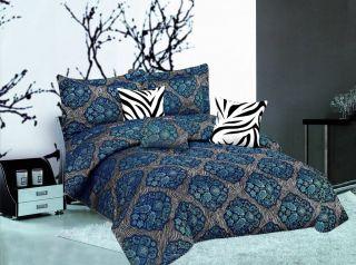 Zebra Animal Print Faux Silk Comforter Set King Size Sale