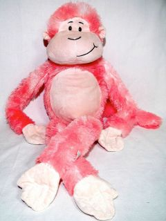 Animal Alley 30 Stuffed Plush Hanging Monkey with Sound Pink Gently