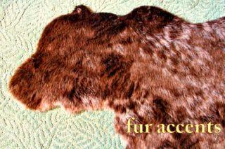 SKIN AREA RUG FAUX FUR ACCENT FAKE SHEEPSKIN THROW LOG CABIN ART PELT