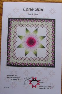 Pattern Lone Star Jackies Animas Quilts Quilting Sew