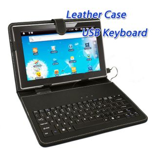 Tablet Android PC Leather Case USB Keyboard Stylus Pen For 10 10 1 10