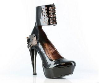 Steampunk Victorian Ankle Cuff Platform Metal Heels Pumps