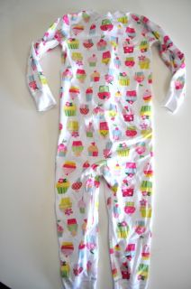 Hanna Andersson Girls Size 90 One Piece Pajamas Floral Organic Cotton