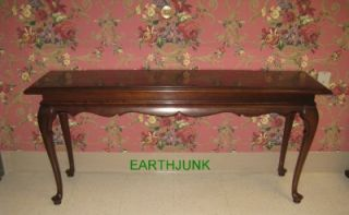 Ethan Allen Georgian Court Cherry Queen Anne Sofa Table 9011