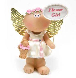 Angel Cheeks Wedding Flower Girl Figurine Russ Berrie