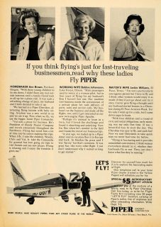 1965 Ad Piper Aircraft Corp Private Airplane COMANCHE Original
