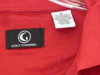 Golf Channel Polo Shirt Top Red XL Amateur Tour