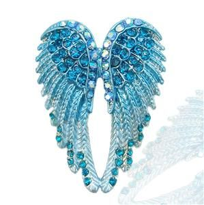 Stunning Angel Wing Brooch Pin Blue Swarovski Crystal 10 Items Free