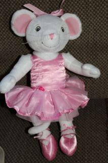 2005 Angelina Ballerina 14 Poseable Plush Mouse Doll Toy Sababa Toys