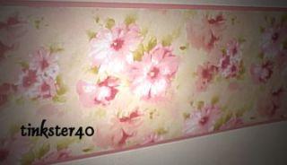 Annas Linen Shabby Chic Floral Ariel Wallpaper Border