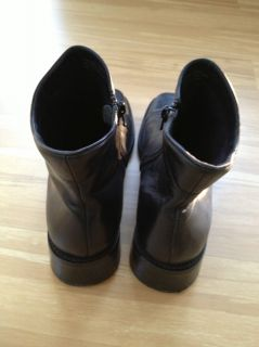 From Anne Klein, these black leather boots are really cute