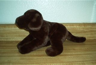 Animal Alley Toys R Us Stuffed Plush CHOCOLATE LAB PUPPY DOG Labrador