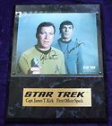 Star Trek Cast Signed Plaque  Nimoy Shatner Kelley