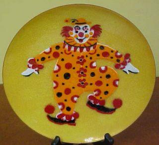 Annemarie Davidson Handcrafted Enamels Sierra Madre CA Clown Plate