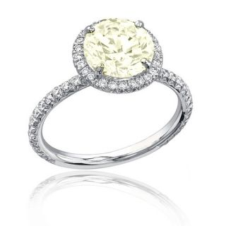 Diamond Anniversary Ring 2 67 Carat Round Cut 14k White Gold Certified