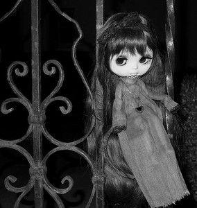 Anouk OOAK Custom Blythe Art Doll Takara FBL Neo Halloween Goth Gothic